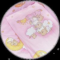 "Наволочка для детской подушки в кроватку ""Мишка на лестнице"" 60х40 см, ТМ Ромашка, фото 1"