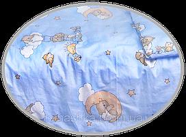"Простынь на резинке в детскую кроватку ""Мишка на лестнице"" 120х60 см, ТМ Ромашка"