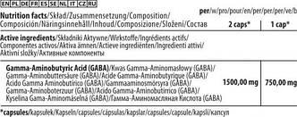 Поддержка нервной системы GABA 750 - 60 капсул