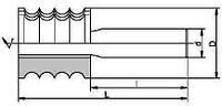 Фрезы концевые профильные для обработки отделочной доски, напаянные пластинами твердого сплава