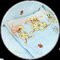 """Наволочка для детской подушки в кроватку """"Пчелки"""" 60х40 см, ТМ Ромашка (БЕЗ ОСНОВНОГО РИСУНКА)"""