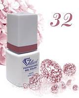 """Гель-Лак №032 Deep Cover Pink (глубокий розовый) UV/LED """"Gelliant"""" 9 мл."""