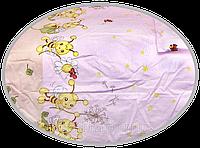 """Простынь на резинке в детскую кроватку """"Пчёлки"""" 120х60 см, ТМ Ромашка"""