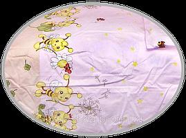 """Простынь на резинке (БЕЗ ОСНОВНОГО РИСУНКА) в детскую кроватку """"Пчёлки"""" 120х60 см, ТМ Ромашка"""