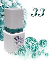 "Гель-Лак №033 Teal Shine (зеленовато-голубой сияющий) UV/LED ""Gelliant"" 9 мл."