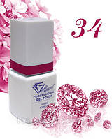 "Гель-Лак №034 Diva (темно розовый) UV/LED ""Gelliant"" 9 мл."