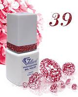 """Гель-Лак №039 Red Glitter (Красные блестки на бесцветной основе) UV/LED """"Gelliant"""" 9 мл."""