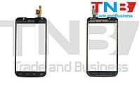 Сенсор LG P715 Optimus L7 II Черный ОРИГИНАЛ