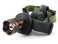 Фонарь светодиодный Bailong BL-6811 ручной+налобный , фото 1