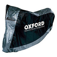 Моточехол Oxford Aquatex Black/Silver, Medium