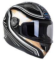 Шлем GEON 968 Интеграл Flame black-bronze - XS