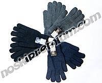 Перчатки мужские шерстяные двойные с начёсом Корона, ассорти, 8118