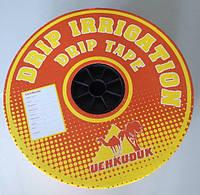 Лента капельного орошения, полива с жёстким эмиттером UCHKUDUK DRIP TAPE 7,2 Mils 0,18 мм,30 см.1,4 л/ч 1000 м, фото 1