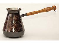 Кофейная турка 500мл TUR8, Медная кофейная турка с узором Лошади, Турка медная, турка для кофе, Джезва, джезвы