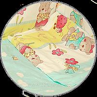 """Наволочка для детской подушки в кроватку """"Мишка садовод"""" 60х40 см, ТМ Ромашка (БЕЗ ОСНОВНОГО РИСУНКА)"""