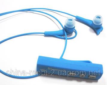 Беспроводные стерео наушники STN-700  Bluetooth + микрофон + регулятор громкости ,Blue, фото 2