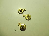 Застібка-кнопка №2, 14 мм. золото, комплект 3 шт., фото 1