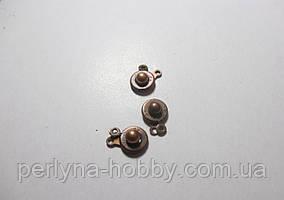 Застібка-кнопка №2, 14 мм. колір мідний, комплект 3 шт.