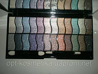 Набор теней для век с кристаллическими блёстками 24 цв.тени для глаз