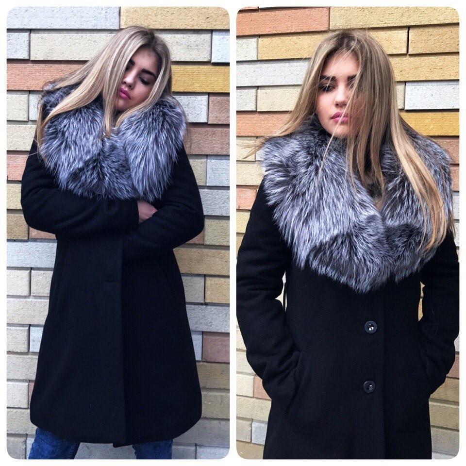 1a5a0122658 Теплое женское кашемировое зимнее пальто на утеплителе