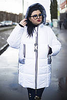 "Зимняя куртка ""Ариша""  белая  (52-66)"
