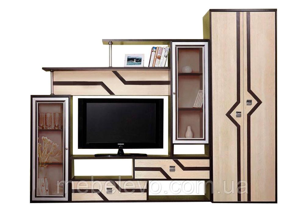 Гостиная Дельта со шкафом 2000х2350х360мм   Мастер Форм