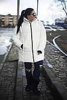 """Зимняя куртка """"София"""" белая  (48-74)"""