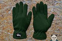 Модные зеленые перчатки стейси ,Stussy