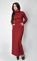 Теплое женское стильное платье