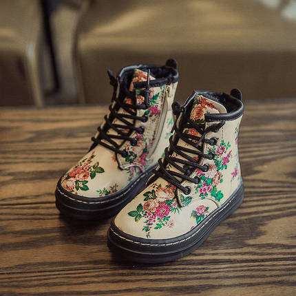 Детские ботинки в цветочек , фото 2