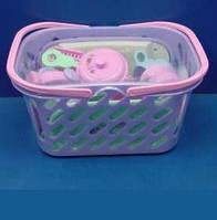 Детская посуда в корзине 1232