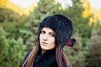 Женская зимняя шапка кубанка (натуральный мех)
