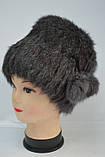 Женская зимняя шапка кубанка (натуральный мех) , фото 4