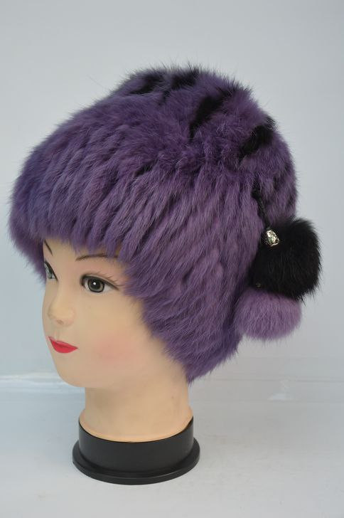 Зимняя женская шапка кубанка из кролика