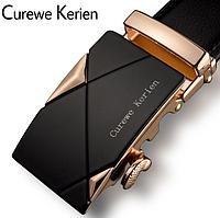Ремінь чоловічий золотистий Curewe Kerien