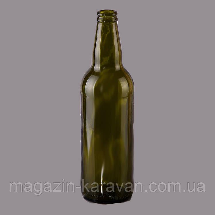 Бутылка пивная 0,5 л под кронен крышку