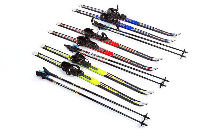 Лыжи беговые в комплекте с палками ZELART 120 см (не регулируемые)