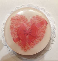 Мыло Розы в сердце , мыло ручная работа. Подарок