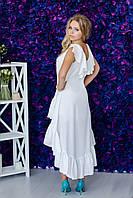 Ассиметричное платье с рюшей ZL1035