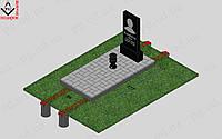 Памятник одинарный с установкой №5