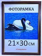 Фоторамка пластиковая 21х30, рамка для фото 166-12