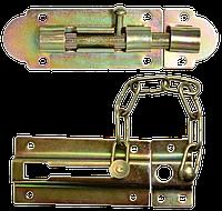 Набор шпингалет и цепочка безопасности 7.5мм, d 8мм TECHNICS