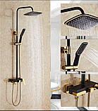 Стойка в ванную комнату со смесителем краном, лейкой и верхним душем, фото 3