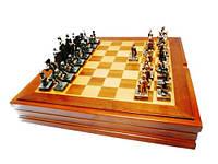 Шахматы в виде исторических битв, каменная крошка покрытая латунью, 360x60x360