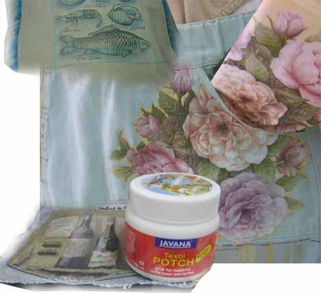 Прозрачный клей для декупажа на текстиле на водной основе Javana 150мл