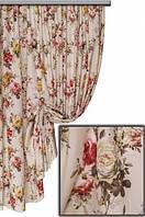 Ткань с цветочным принтом Акварель