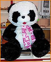 Большая плюшевая панда 62 см в шарфе