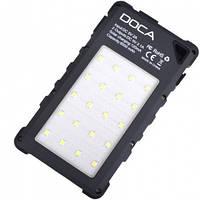 3 в 1 - Power Bank с солнечной панелью + фонарь + детектор валют DOCA D-S8000 (8000mAh), черный