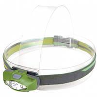 Фонарь налобный Rayfall HP1A (Cree XP-E R3 + 2хRed LED, 100 люмен, 6 режимов, 1хАА), зеленый