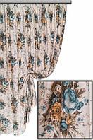 Ткань с цветочным принтом Хлопок Букет